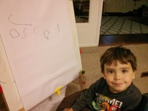 someone may be practicing writing his own name (!!!)